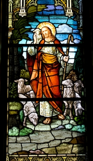 The Good Shepherd as depicted in the chapel window