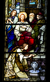 Mary Magdalene as depicted in chapel window