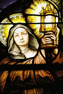 St. Clare as depicted in chapel window