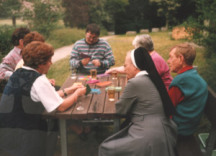 Sister Irmgardis Krauss works in pastoral care